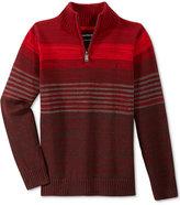 Calvin Klein Boys' Dimension Engineered Striped Half-Zip Sweater