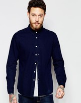Asos Denim Shirt In Navy In Regular Fit