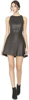 Alice + Olivia Trixie Leather Crossover Mini Skirt