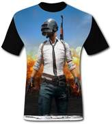 Funcllcc PUBG Men's Breathe Fashion Comfort Round Collar T-shirt XL