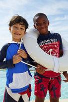 Classic Little Boys Colorblock Graphic Rash Guard-Blue Aqua Sharks