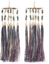 Rosantica Havana Tasseled Beaded Gold-tone Earrings - Purple
