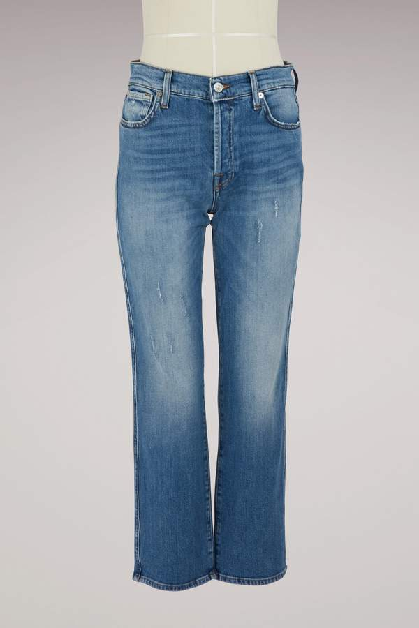 Daydream Edie high-waisted straight cut cropped jeans