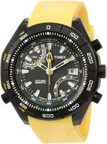 Timex Men's IQ T2N730 Yellow Silicone Analog Quartz Watch with Dial