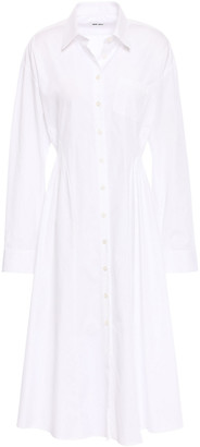 Each X Other Pleated Cotton-poplin Shirt Dress