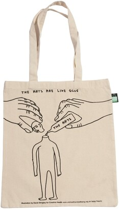 Plinth - David Shrigley Creative Health Tote Bag - The Arts Are Like Glue