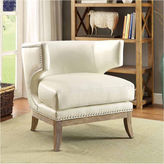 Asstd National Brand Genille Contemporary Nailhead Trim Leather Club Chair