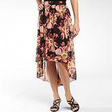 JCPenney Worthington® Shirred Chiffon High-Low Skirt