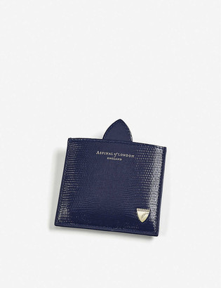 Aspinal of London Marylebone leather compact mirror