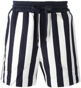 Andrea Pompilio - striped drawstring shorts - men - Cotton/Viscose - 46