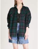 Fear Of God Fifth Collection denim-collar plaid cotton shirt
