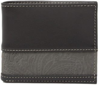 Tallia Bifold Leather Wallet with Embossed Insert