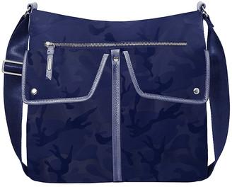 Baggallini Women's Handbags Navy - Navy Jacquard Hillcrest RFID Hobo