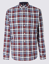 Blue Harbour Luxury Pure Cotton Checked Shirt