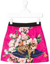 Dolce & Gabbana Zambia rose print skirt - kids - Silk/Cotton/Viscose - 4 yrs
