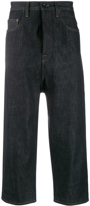 Rick Owens Cropped Denim Trousers