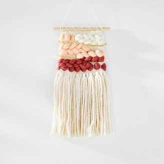 west elm Sunwoven Ombre Wall Hanging - Rose