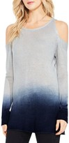 Women's Two By Vince Camuto Cold Shoulder Ombre Sweater