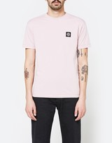 Stone Island Patch Logo T-Shirt in Rose Quartz