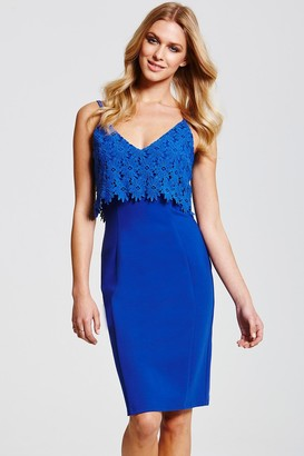 Paper Dolls Blue Lace Overlay Dress