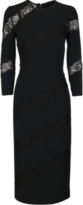 Dolce & Gabbana Black Silk-blend Dress