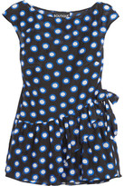 Moschino Ruffled Polka-dot Cotton-voile Top - IT40
