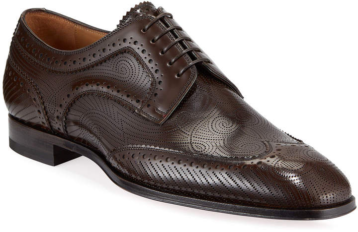 newest 9208d 1a5d5 Men's Cousin Derbissimo Brogue Leather Derby Shoes