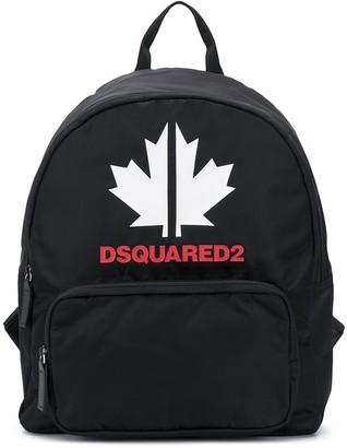 DSQUARED2 Maple Leaf print backpack