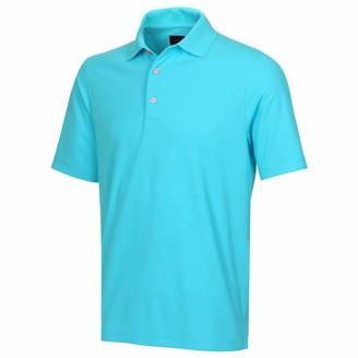 Greg Norman Mens KX04 Performance Plain Golf Polo Shirt - Shark Grey - XL