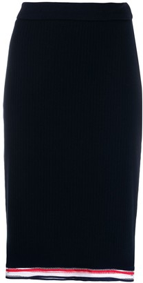 Thom Browne High-Waisted Ribbed Skirt