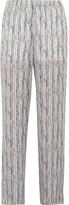 Theyskens' Theory Printed silk wide-leg pants