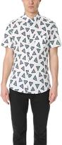 Kenzo Bermuda Triangle Poplin Short Sleeve Shirt