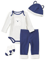 Starting Out Baby Boys Newborn-9 Months Polar Bear 4-Piece Layette Set