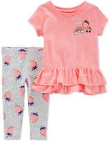Carter's 2-Pc. Strawberry T-Shirt & Leggings Set, Toddler Girls