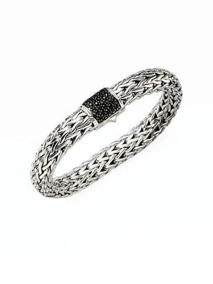 John Hardy Classic Chain Black Sapphire & Sterling Silver Large Bracelet