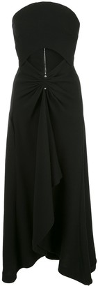 Dion Lee Strapless Wool Dress