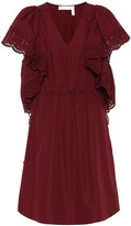 See by Chloe Lace-trimmed cotton dress