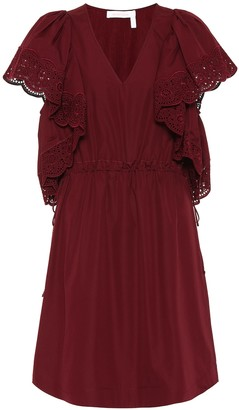 See By Chloã© Lace-trimmed cotton dress