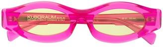 Kuboraum Chunky Round-Frame Sunglasses