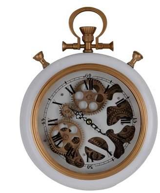 A&B Home Roman Numeral Wall Clock White