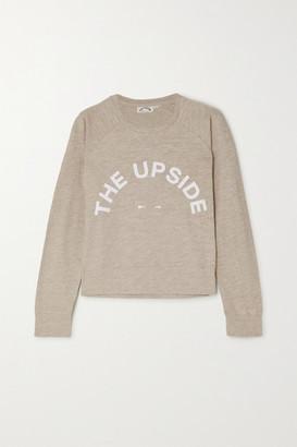The Upside Horseshoe Bronte Printed Slub Cotton-jersey Sweatshirt - Off-white