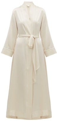 Morpho + Luna Jade Silk-charmeuse Robe - Cream