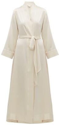 Morpho + Luna Jade Silk-charmeuse Robe - Womens - Cream