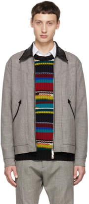 DSQUARED2 Multicolor Houndstooth Zip Jacket