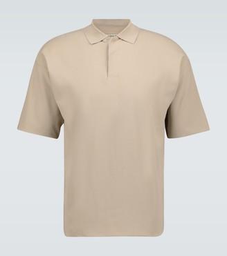 Auralee Hard twist cotton polo shirt