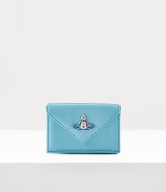 Vivienne Westwood Emma Envelope Billfold With Pocket Light Blue