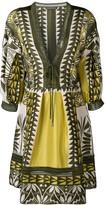 Alberta Ferretti geometric pattern tunic dress