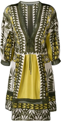 Alberta Ferretti Geometric Pattern Tunic Dress