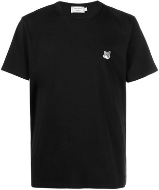 MAISON KITSUNÉ embroidered-logo cotton T-Shirt