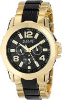 August Steiner Men's AS8114YG Multifunction Gold-Tone and Bracelet Watch
